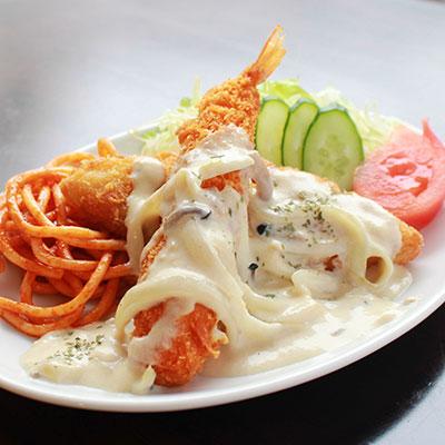えびと白身魚フライ ~クリームソースセット